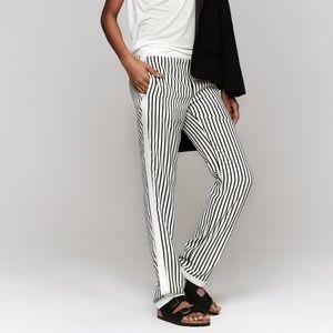 J Brand Delia Black White Striped Skinny Pants